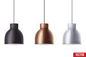 Retro Metallic stylish ceiling cone lamp