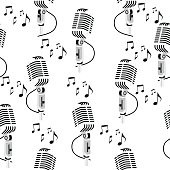Retro microphone pattern