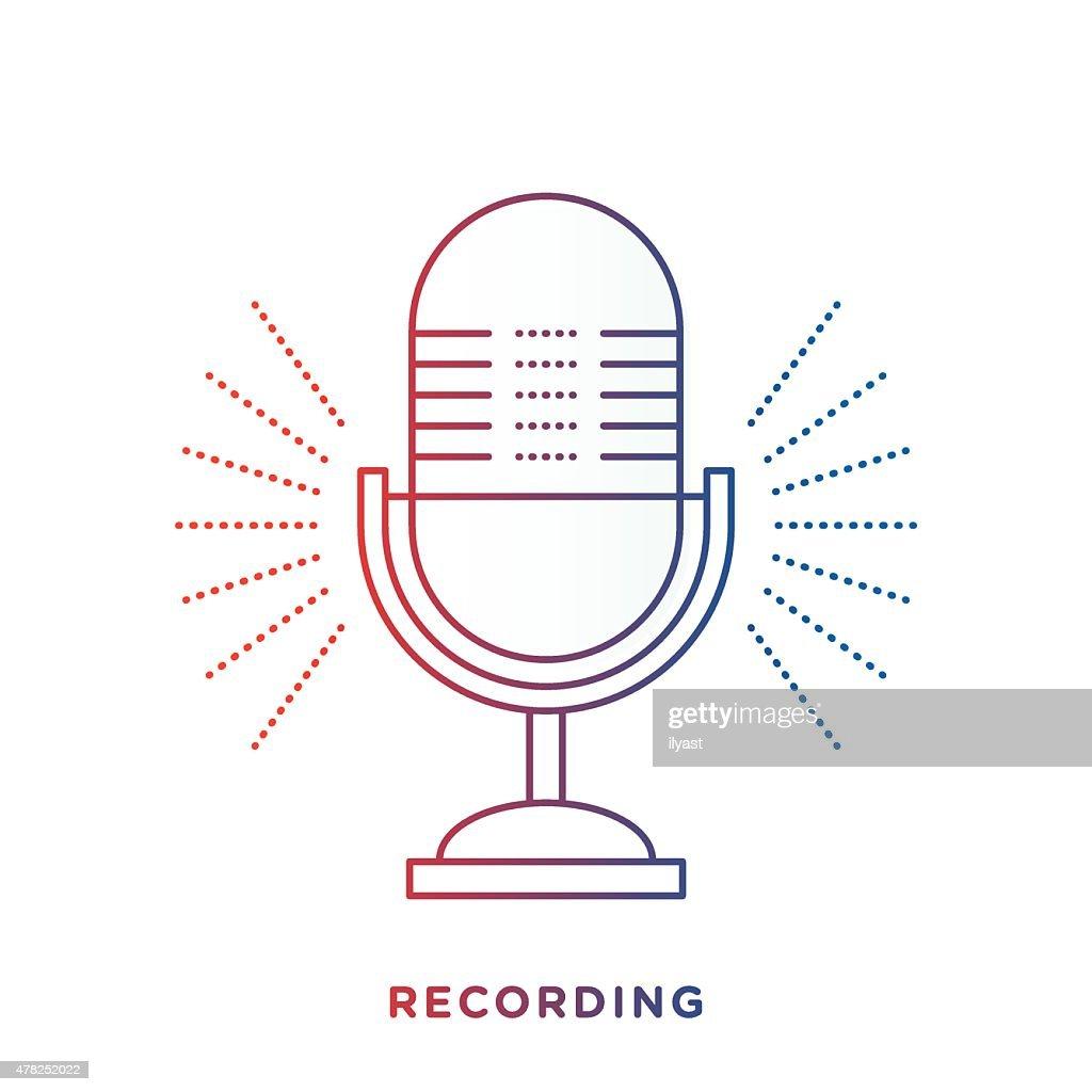 Retro Microphone Symbol