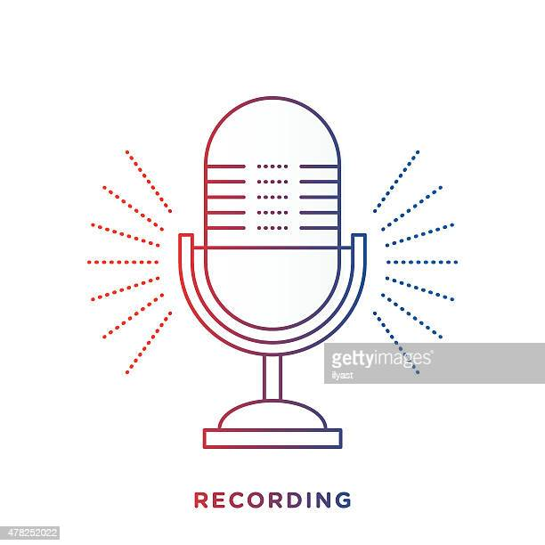 Microphone Stock Illustrations And Cartoons Getty Images