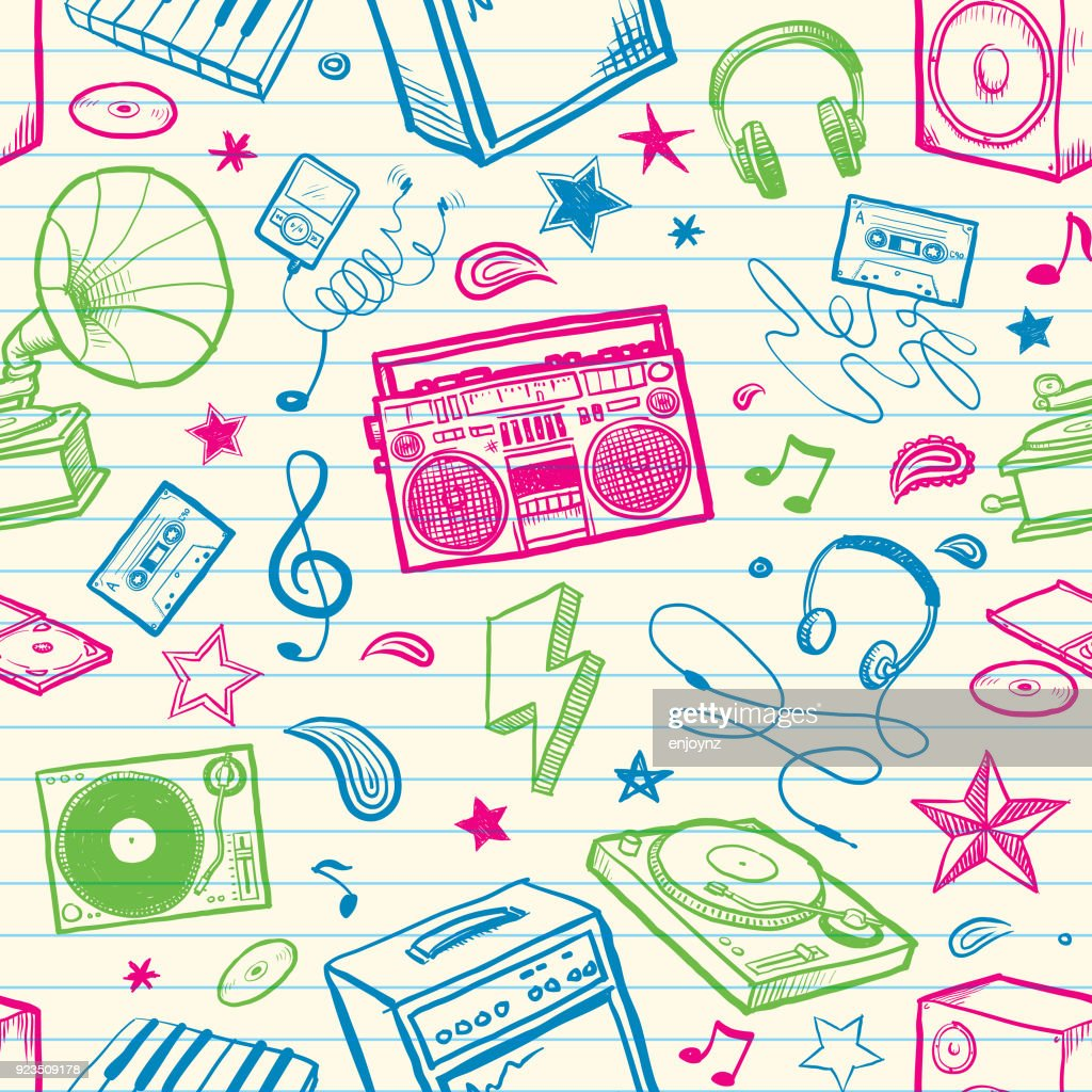 Retro music background : stock vector