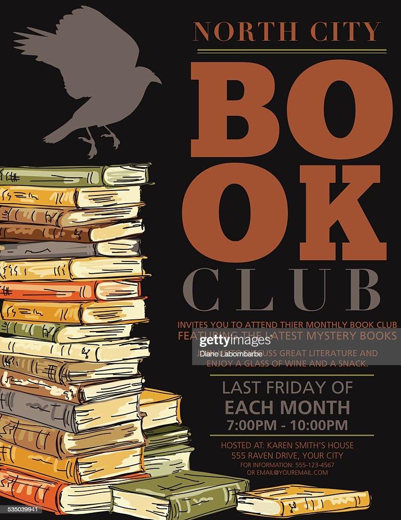 Retro Mystery Book Club Invitation Poster