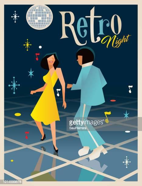 retro night - ballroom stock illustrations