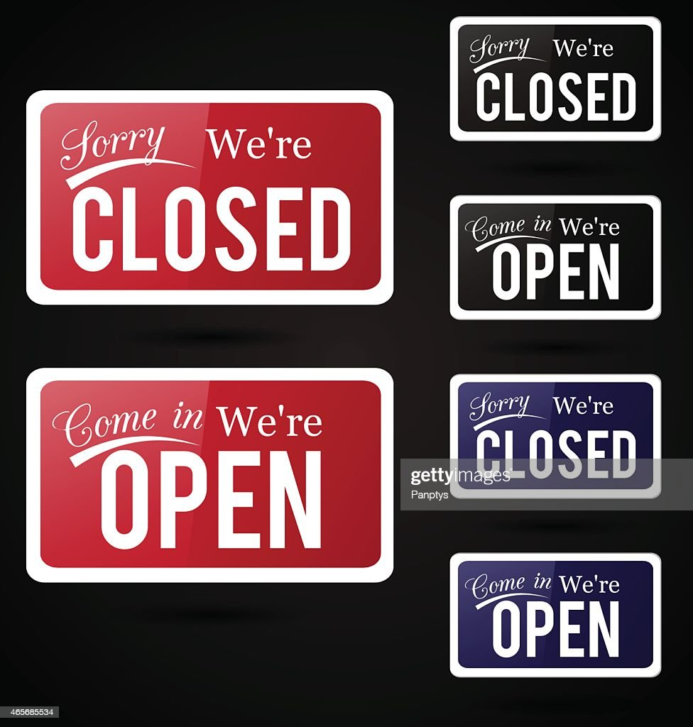 Retro open - close signs.