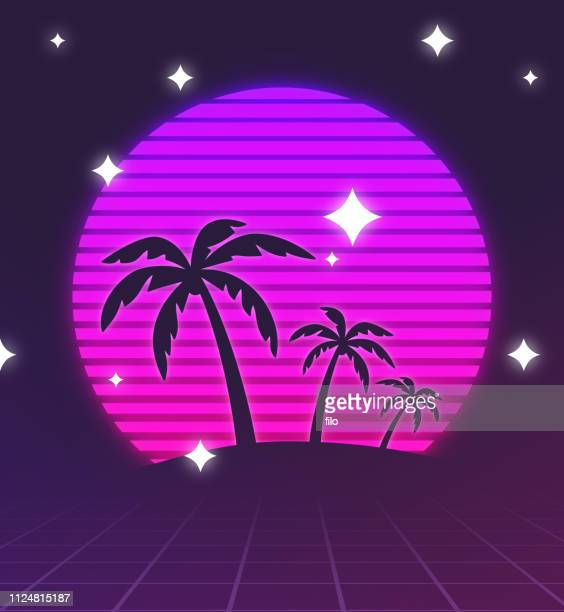 Retro Palm Trees Background