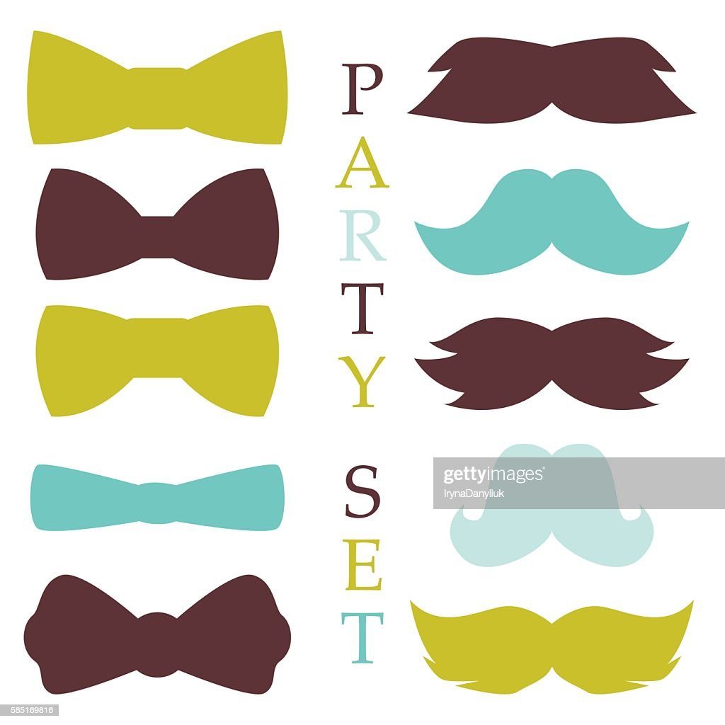 Retro party set vector.