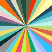 retro pastel starburst