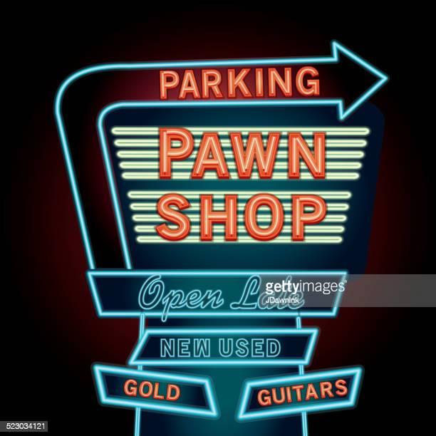 Retro Pawn shop neon sign