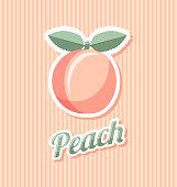 Retro peach