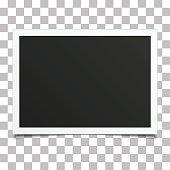 Retro photo frame with shadow.