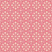 retro pink flowers on a beige background