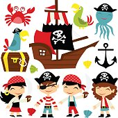 Retro Pirate Adventure Set