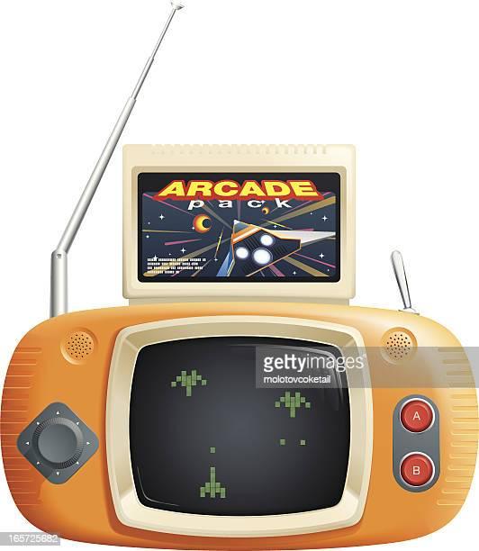 retro portable video games console