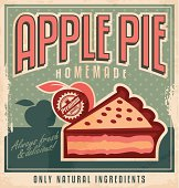 Retro poster design concept for homemade apple pie