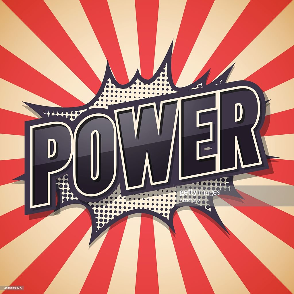 Retro poster, Power, Vector illustration.