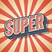 Retro poster. Super Speech. Vector illustration