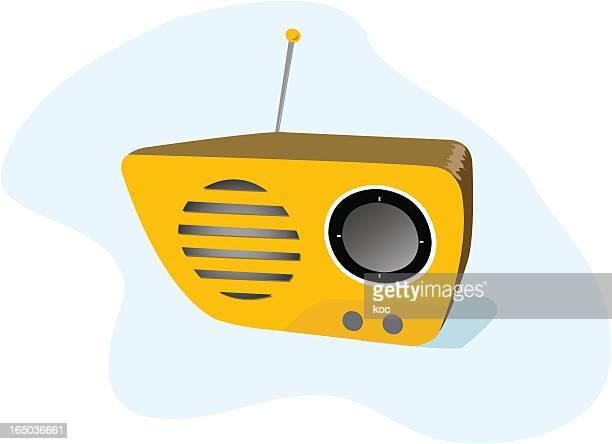 retro radio - volume knob stock illustrations, clip art, cartoons, & icons