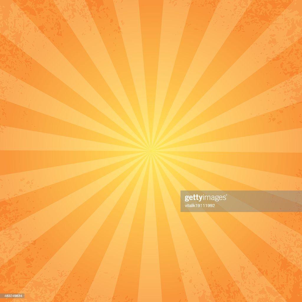 retro rays orange background
