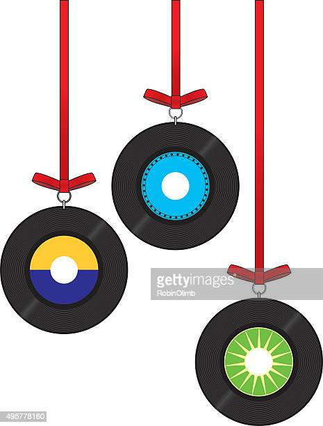 Retro Record Christmas Ornaments