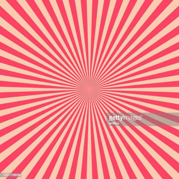 retro roter sternbruch - sonnenstrahl stock-grafiken, -clipart, -cartoons und -symbole