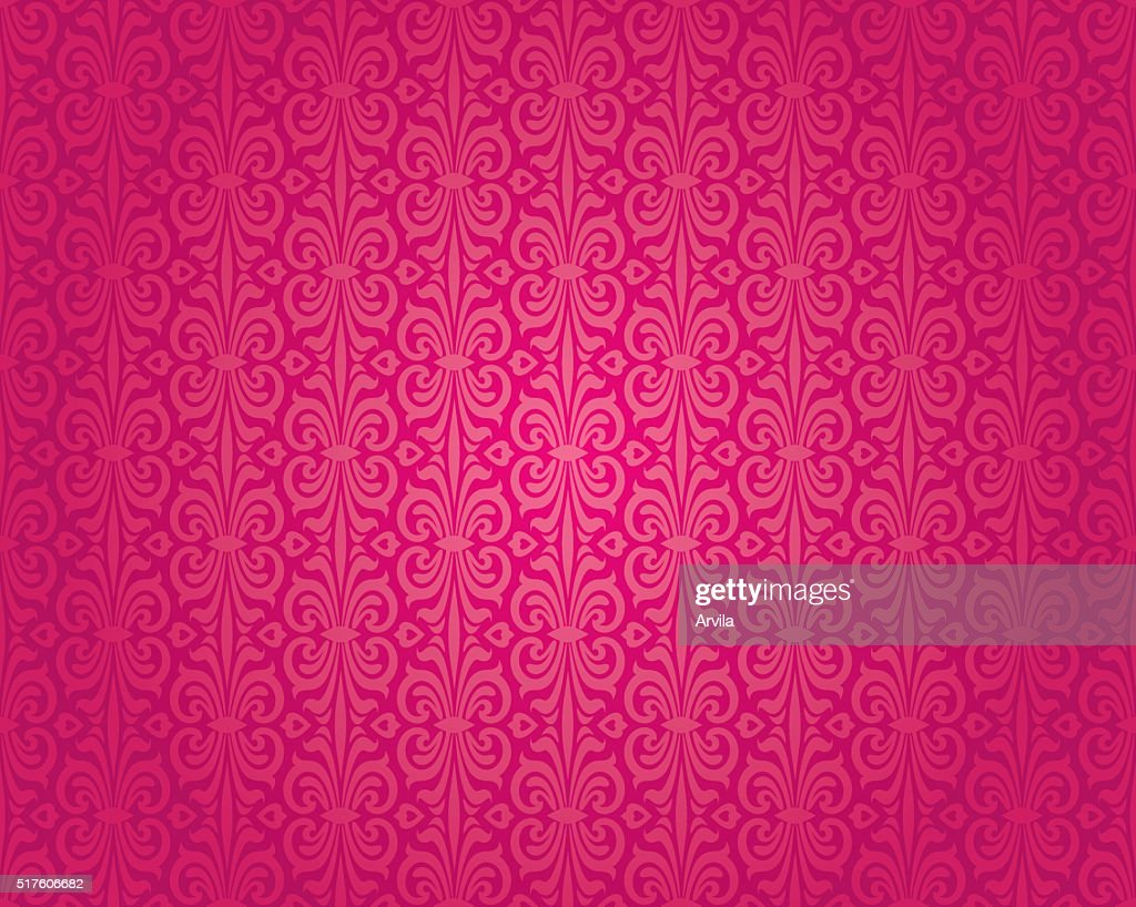 Retro red vintage wallpaper pattern vector seamless background