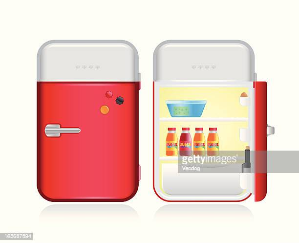 レトロな冷蔵庫 - 冷蔵庫点のイラスト素材/クリップアート素材/マンガ素材/アイコン素材