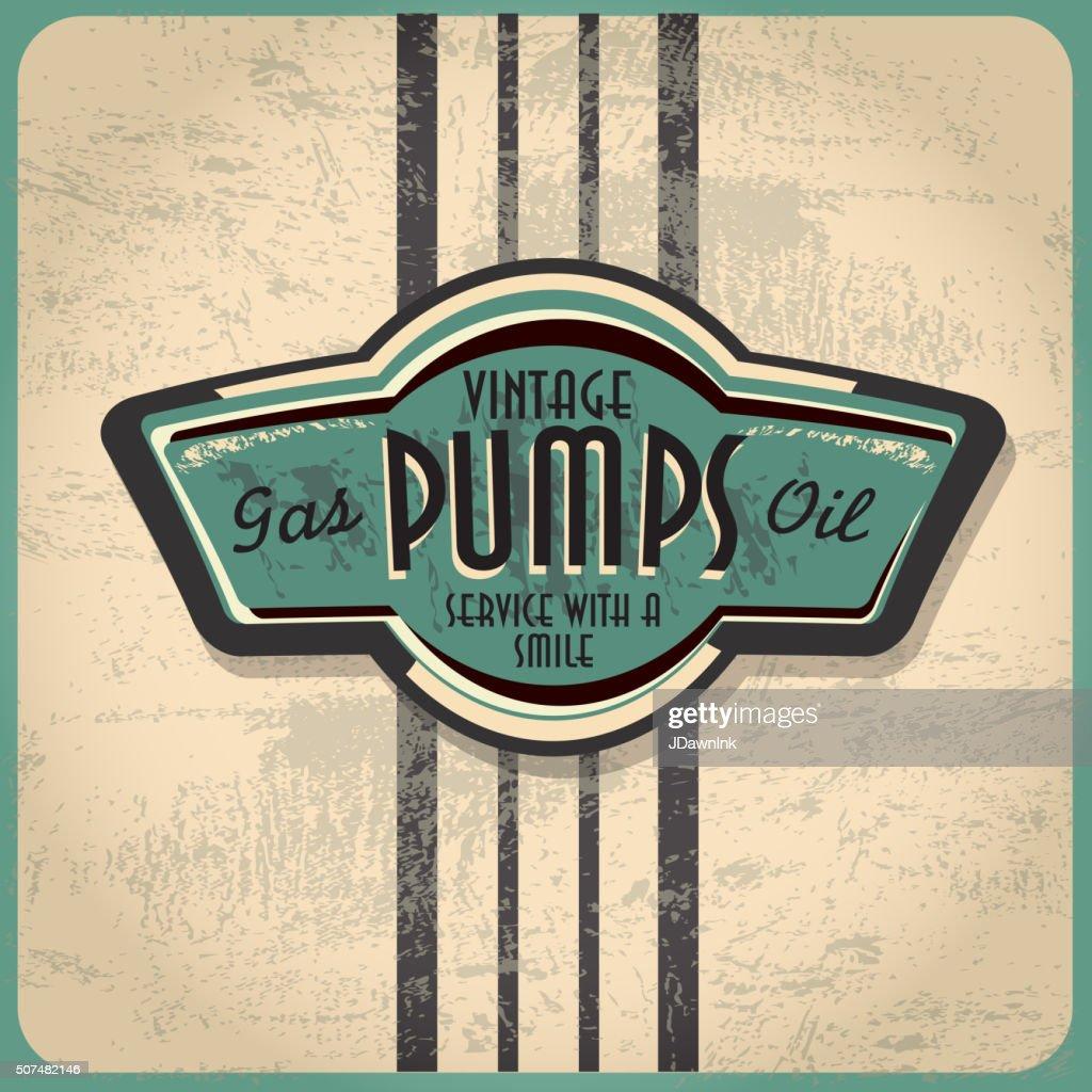 Retro revival or Vintage Gas Bar sign