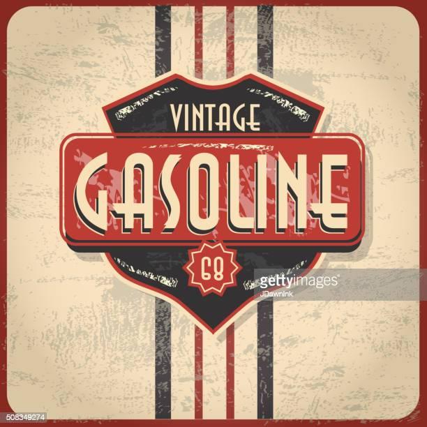 Retour du rétro Vintage essence ou Bar panneau