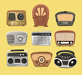 Retro revival radios hi fi tuner broadcasting system