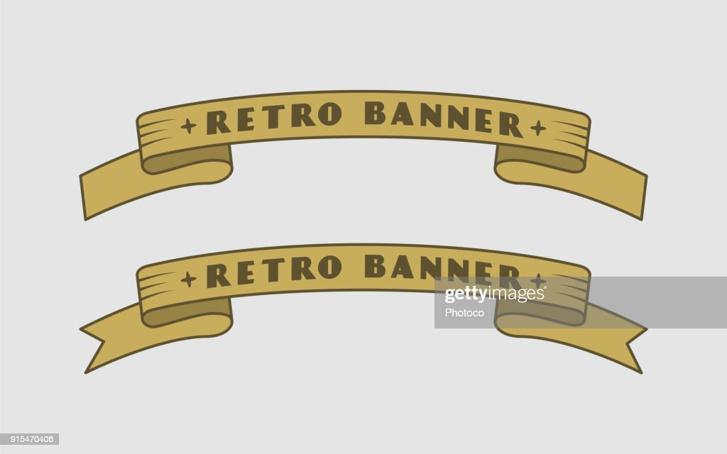 Retro Ribbon Banners