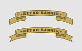 Retro Ribbon Banners