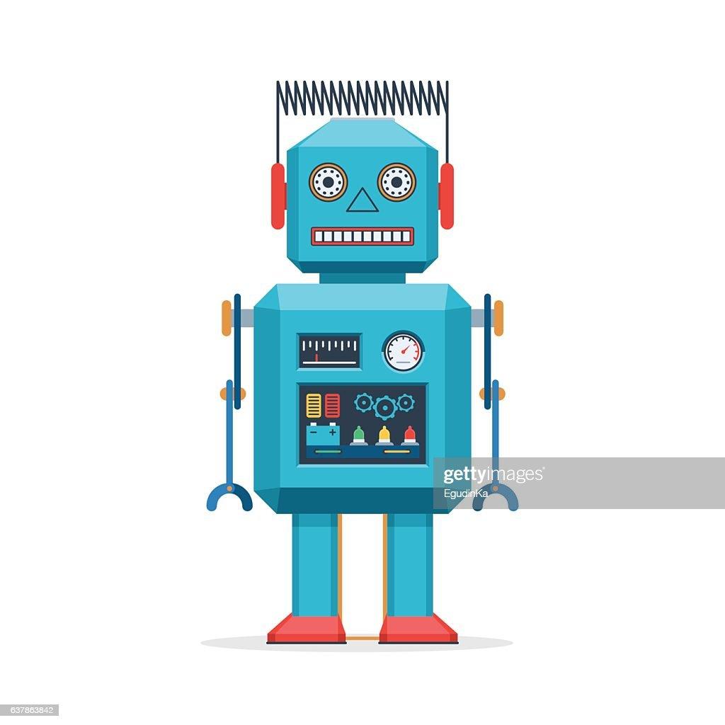 Retro robot vintage toys