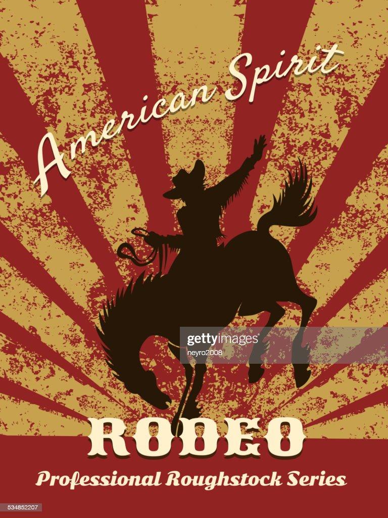 Retro rodeo poster