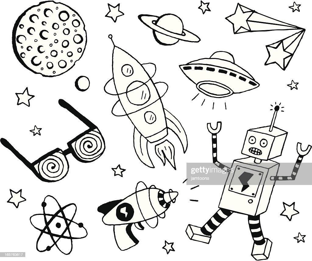Retro Sci-Fi Doodles