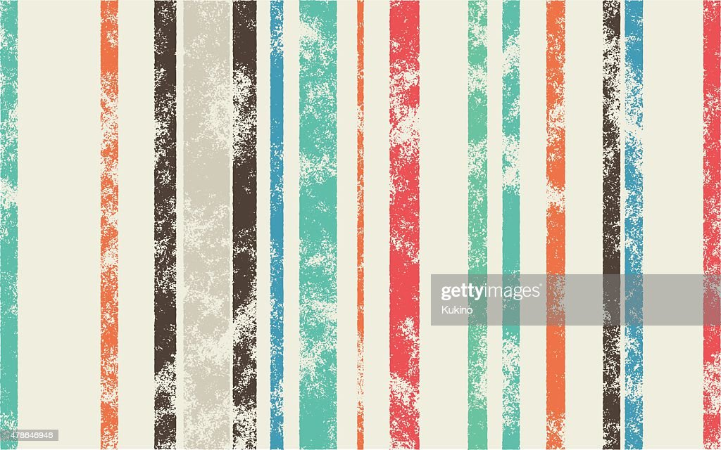 Retro Scratched Background - Color Lines with Different Width on