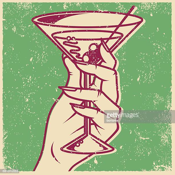 Retro Screen Print Martini