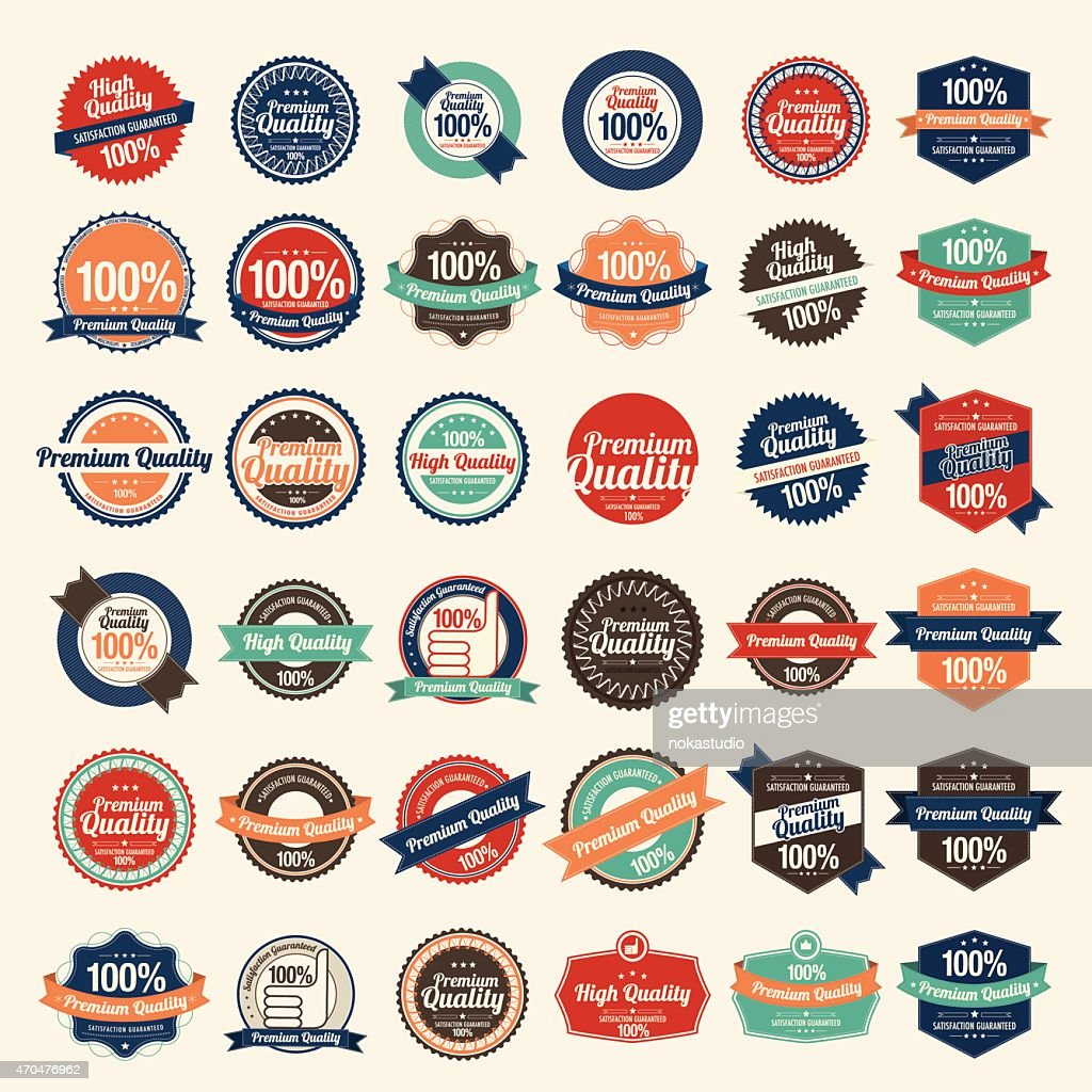 Retro Set of Vintage Premium Quality Stickers And Elements