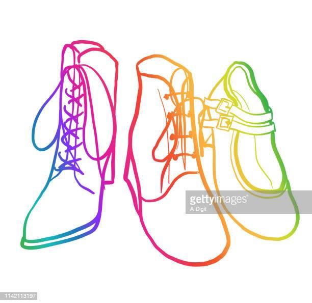 Retro Shoe Styles Rainbow