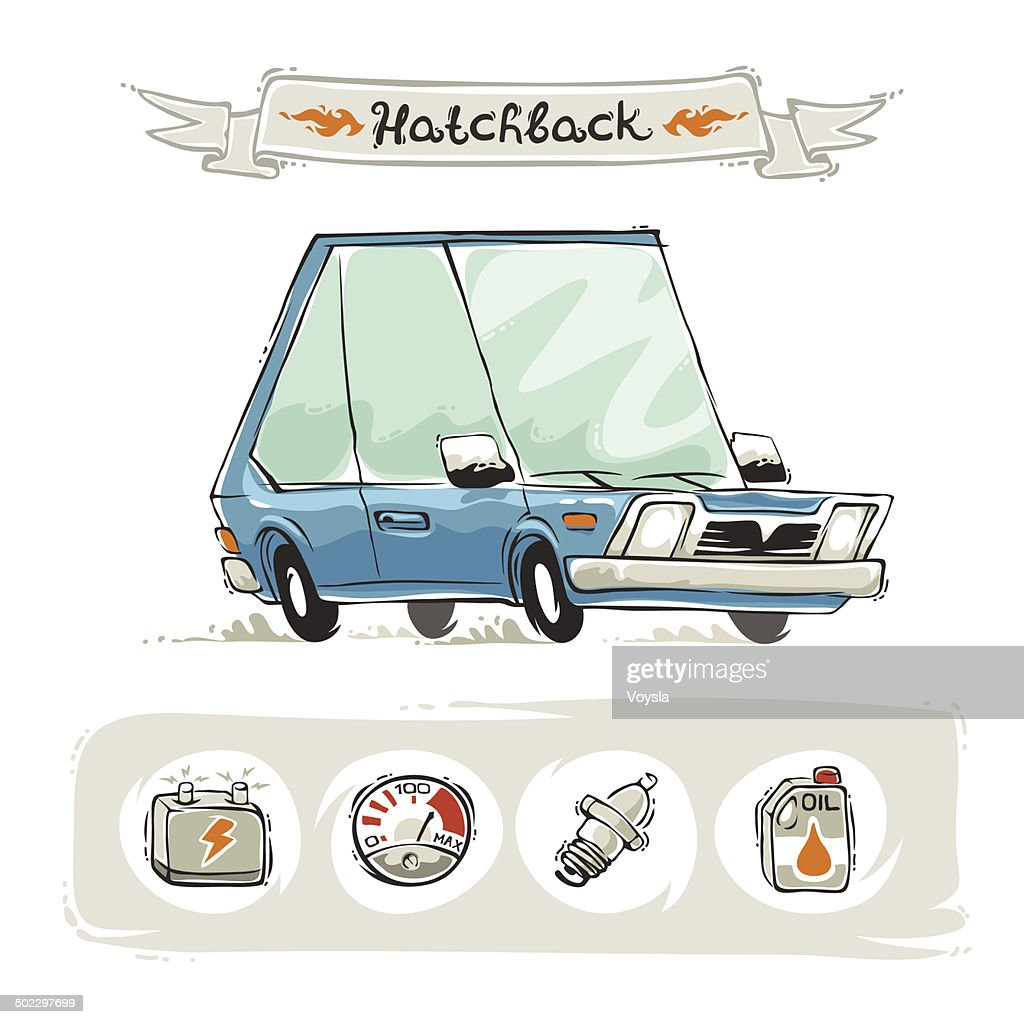Retro Small Hatchback Set