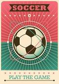 Retro soccer poster.