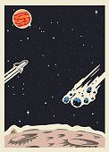 Retro Space Poster template