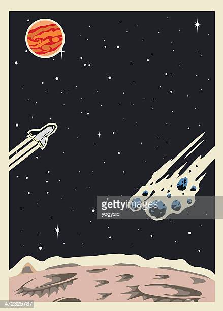 retro space poster template - copy space stock illustrations