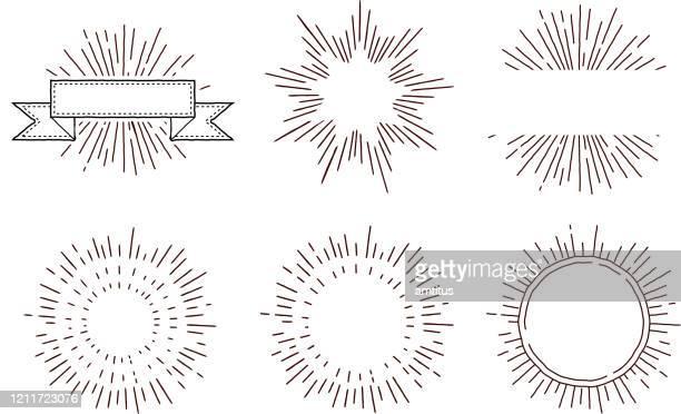 レトロな星バースト新しい - 装飾美術点のイラスト素材/クリップアート素材/マンガ素材/アイコン素材