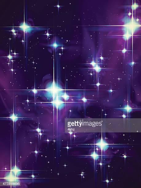 Retro-Sternen Vektor Glühend Sternenhimmel Hintergrund