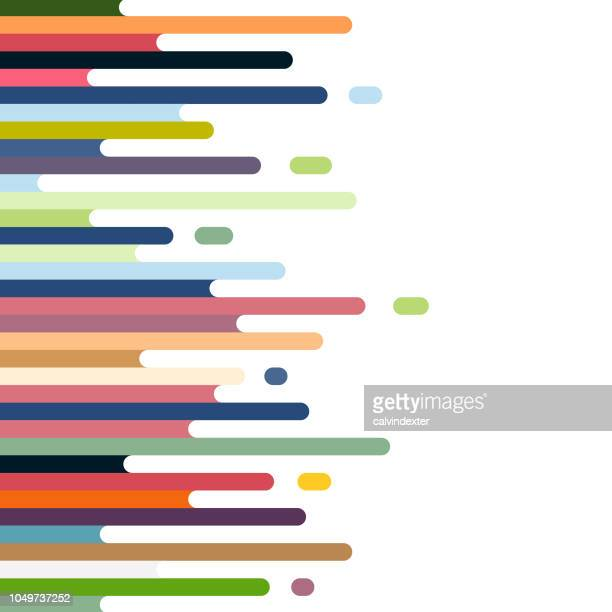 retro style abstract background - parallel stock illustrations