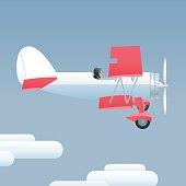 Retro style airplane vector illustration