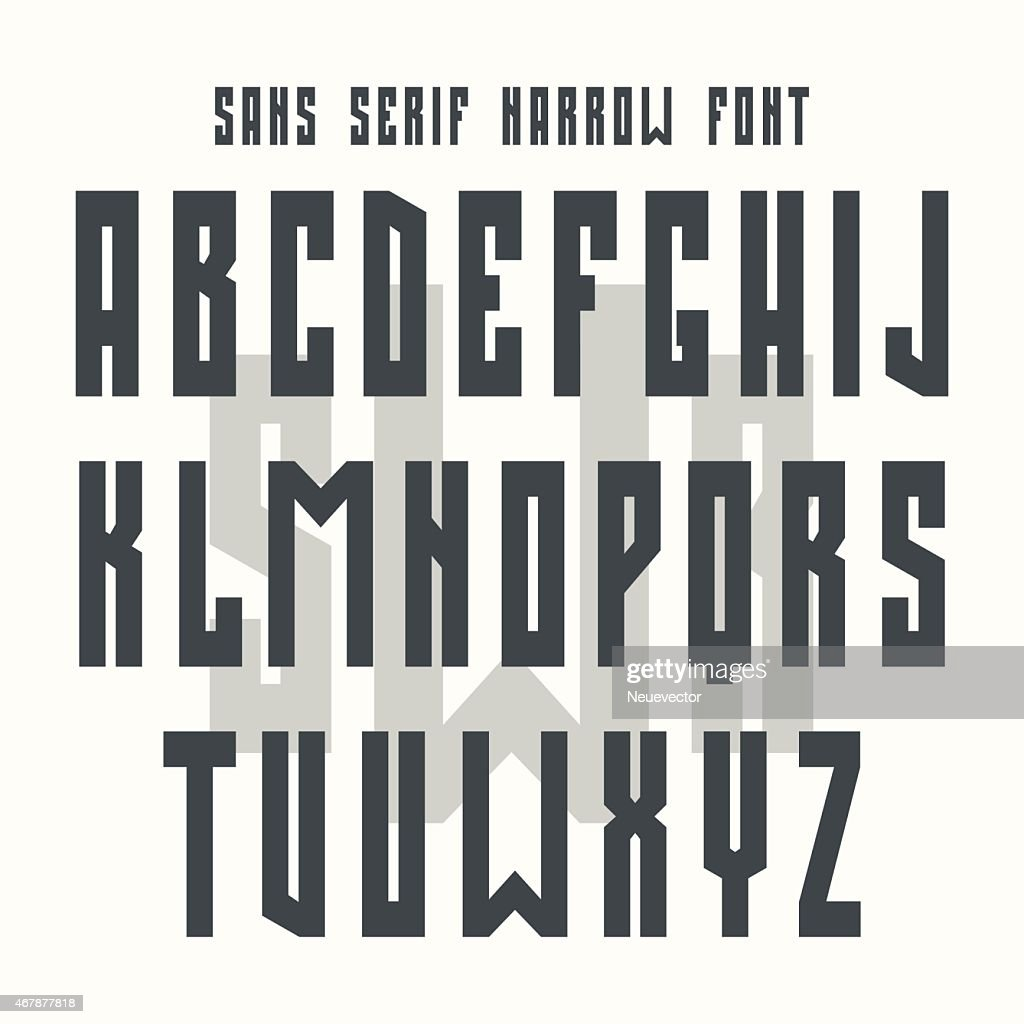 Retro style alphabet in bold sans serif font