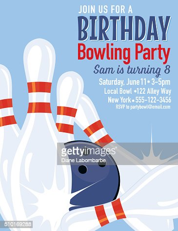 Retro style bowling birthday party invitation template vector art retro style bowling birthday party invitation template vector art getty images pronofoot35fo Image collections