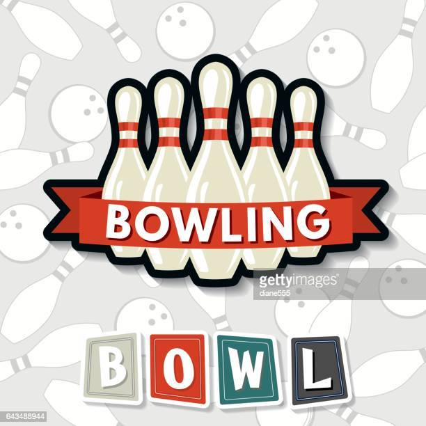 Retro-Style-Bowling-Elemente