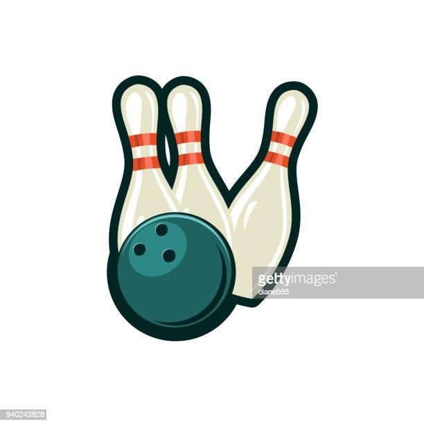 Retro stijlelementen Bowling